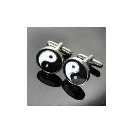 Yin Yang Symbol Cufflinks