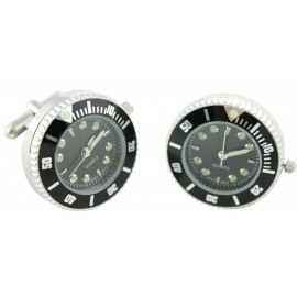 Black Sports Watch Cufflinks
