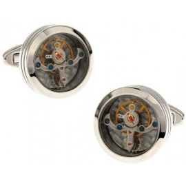 Stainless Steel Watch Movement Cufflinks