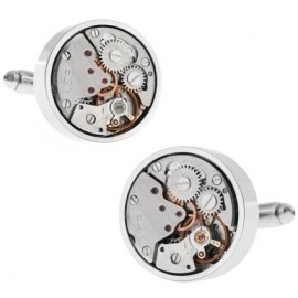 Silver Watch Movement Cufflinks