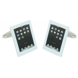 White iPad Air Cufflinks