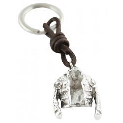 Silver Bullfighter Jacket Keychain