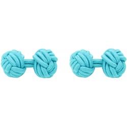 Turquoise Silk Knot Cufflinks