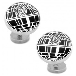 Recessed Matte Death Star Cufflinks