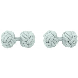 Light Grey Silk Knot Cufflinks