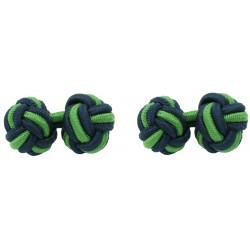 Gemelos Elásticos Bola Azul Marino y Verde Hierba