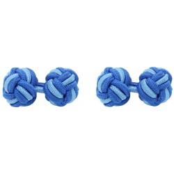 Gemelos Elásticos Bola Azul Cobalto y Azul Claro