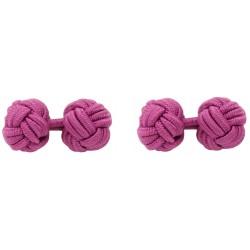 Fuchsia Silk Knot Cufflinks