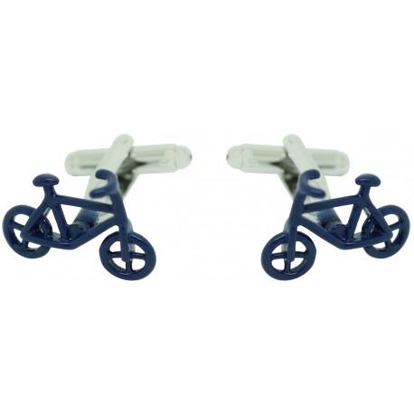 Blue Bike Cufflinks