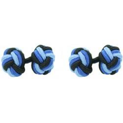 Gemelos Elásticos Bola Negro, Azul Cobalto y Azul Claro