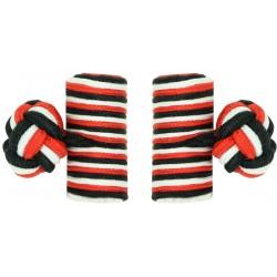 Gemelos Elásticos Barril Rojo, Negro y Blanco