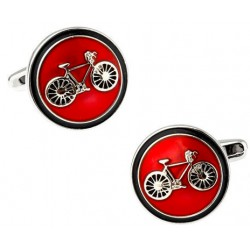Classic Red Bike Cufflinks