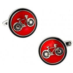 Classic Red Bike Cufflinks