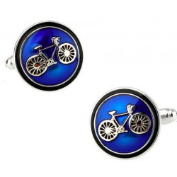 Classic Blue Bike Cufflinks