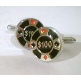 Casino Chip Cufflinks