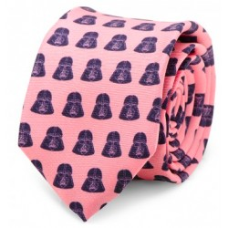 Darth Vader Pink and Navy Skinny Tie
