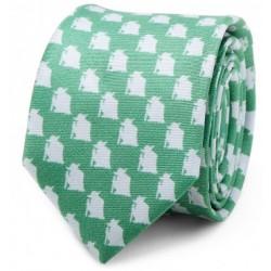 Corbata Fina Star Wars Yoda Verde y Blanca