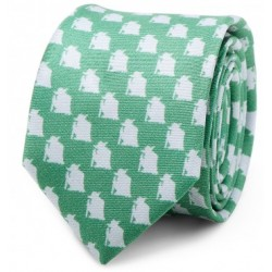 Yoda Green and Grey Skinny Tie