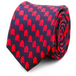 R2D2 Navy and Red Skinny Tie