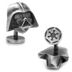 3D Antique Silver Darth Vader Cufflinks