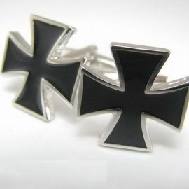 Black Saint George's Cross Cufflinks