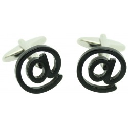 Black At Symbol Cufflinks