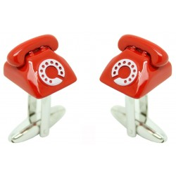 Red Telephone Cufflinks