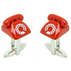 Red Telephone Cufflinks