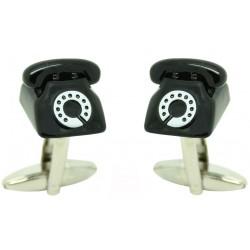 Black Telephone Cufflinks