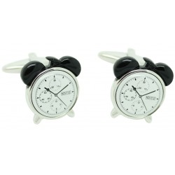 Black Alarm Clock Cufflinks
