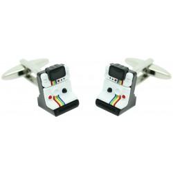 White Polaroid Camera Cufflinks