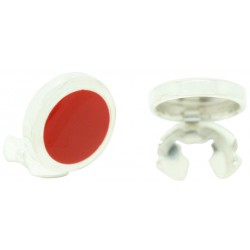 Sterling Silver Red Button Covers