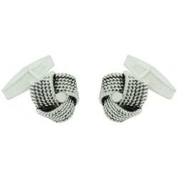 Sterling Silver Wool Knot Cufflinks