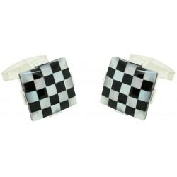 Sterling Silver Chess Cufflinks