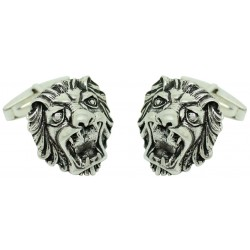Sterling Silver Lion Mouth Cufflinks