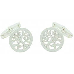 Sterling Silver The Tree of Life Cufflinks