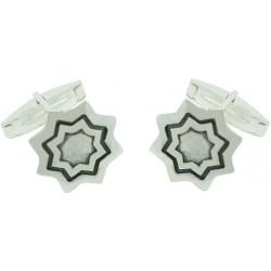 Sterling Silver Star Cufflinks