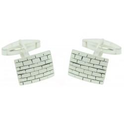 Sterling Silver Brick Wall Cufflinks