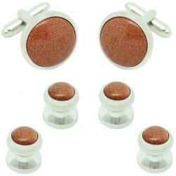 Botones y gemelos originales para Esmoquin marrones