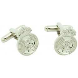 Silver Real Madrid Cufflinks