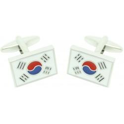 Gemelos para camisa al por mayor Bandera Corea del Sur