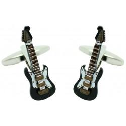 3D Black Electric Guitar Cufflinks