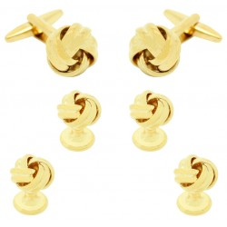 Golden Knot Tuxedo Buttons