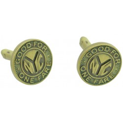 NYC Subway Coin Cufflinks