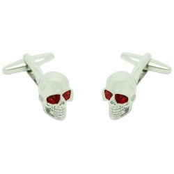 Wholesale Red Eyes Skull Cufflinks
