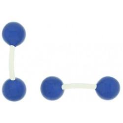 Gemelos al por mayor Bola Azul esmaltado