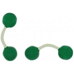Gemelos al por mayor Bola Verde esmaltado