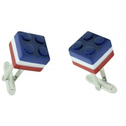 Multicolored LEGO Brick Cufflinks
