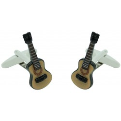 Coloured 3D Spanish Guitar Cufflinks