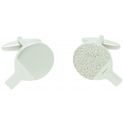 Silver Table Tennis Racket Cufflinks
